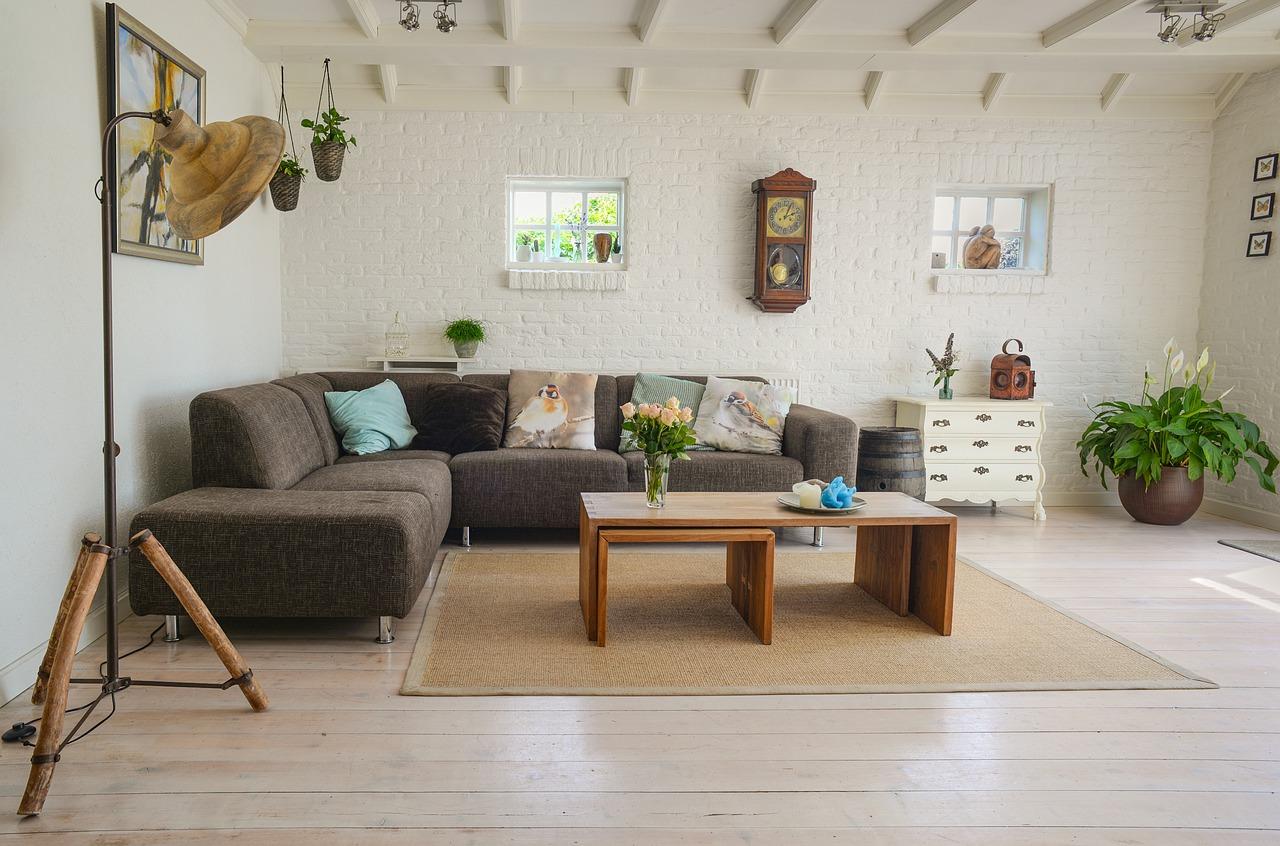 Sofa, salón, hogar, mesa